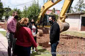 Nardini visitó obra integral de pavimentos en Grand Bourg - Zona Norte Diario OnLine