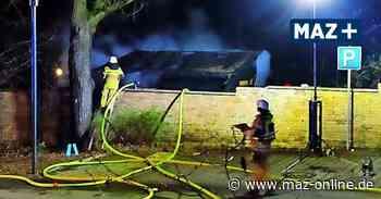 Brand auf Schulgelände in Kleinmachnow – Polizei ermittelt - Märkische Allgemeine Zeitung