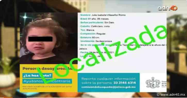 Localizan viva a niña que desapareció con su familia en Acatic, Jalisco - ADN 40