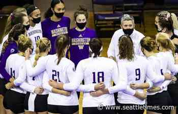 UW volleyball is on top of the Pac-12 once again. But, as nationals approach, the Huskies aren't satisfied yet. - The Seattle Times