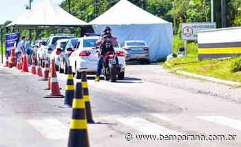 Barreiras restritivas em Guaratuba fizeram mais de 2 mil veículos retornarem ao seu local de origem - Bem Paraná