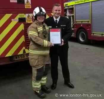 Macmillan CEO thanks retiring firefighter for £25k donation
