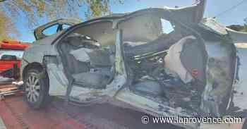 Accident entre Sénas et Mallemort : les véhicules dégagés, la route rendue à la circulation - La Provence