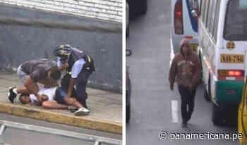 Caen delincuentes que arrebataban celulares en puentes Caquetá y Ricardo Palma   Panamericana TV - Panamericana Televisión