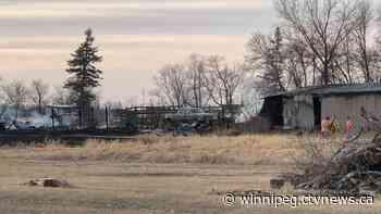 Several structures damaged in fire near Lorette; cigarette believed to spark blaze - CTV News Winnipeg