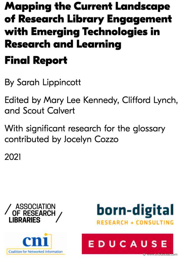 ARL, CNI, EDUCAUSE Release Final Report on Emerging Technologies in Research Libraries