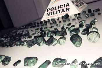 Jovens são flagrados com dezenas de esmeraldas sem procedência - Tribuna de Minas - Tribuna de Minas