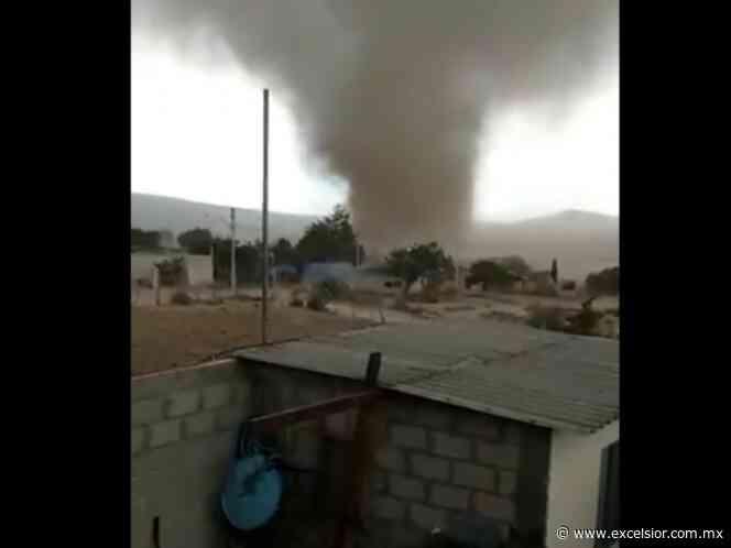 Tornado sorprende a pobladores de Apan, Hidalgo - Excélsior