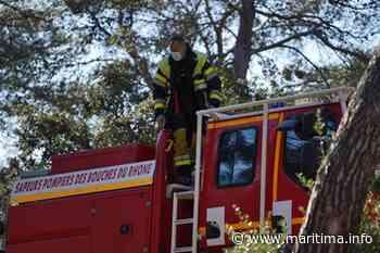 Auriol : 60 pompiers toujours sur place, le feu n'a pas repris - Département - Faits divers - Maritima.Info - Maritima.info