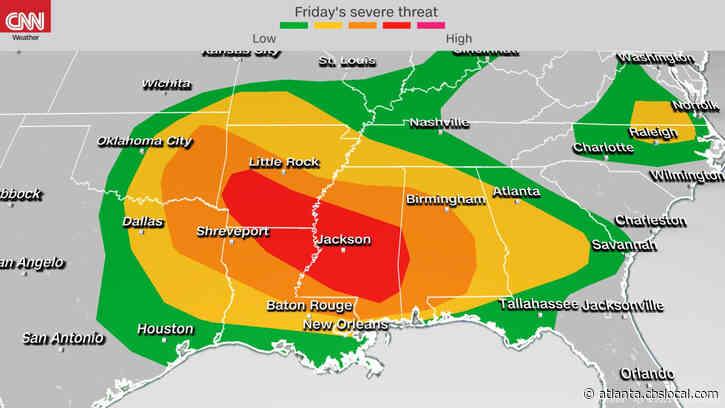 Severe Storms Heading For Georgia Saturday