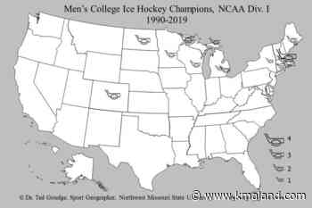 Geography with Goudge: Men's College Ice Hockey Champions, 1990-2019 - KMAland