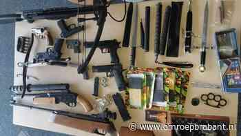 Arsenaal wapens gevonden in huis, man gaat door het lint - Omroep Brabant