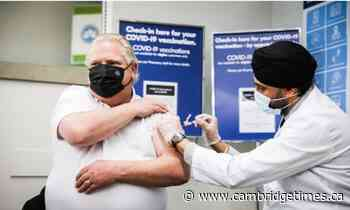 News Doug Ford gets first dose of AstraZeneca at Etobicoke pharmacy - Cambridge Times