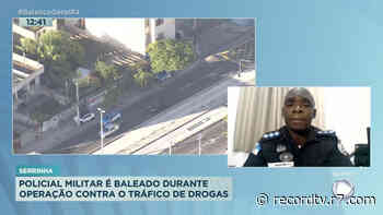 Policial é baleado durante operação na Serrinha - Record TV