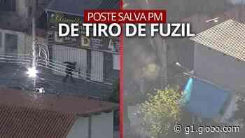 VÍDEO: Disparo quase atinge PM durante tiroteio na comunidade da Serrinha, em Madureira - G1