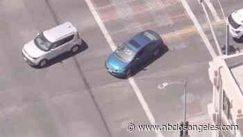 Officers Pursue Driver on Streets in the Heart of Hollywood - NBC Southern California