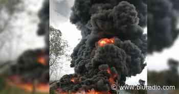 Reportan fuerte explosión en oleoducto Caño Limón Coveñas en Saravena, Arauca - Blu Radio