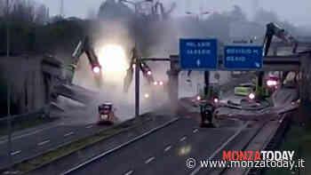 Ruspe in azione sulla Milano-Meda, demolito il ponte di Bovisio Masciago - Monza Today