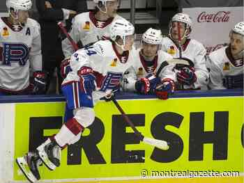Canadiens prospect Cole Caufield has fun in his AHL debut with Rocket