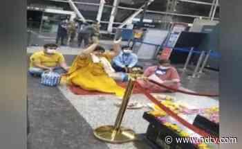 Madhya Pradesh Minister Performs 'Puja' At Airport To Ward Off Covid - NDTV