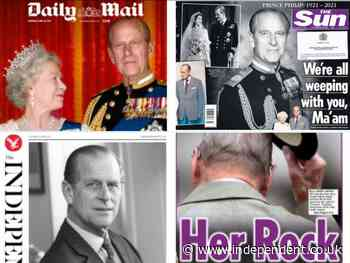 United in grief': How UK newspapers reacted to Prince Philip's death