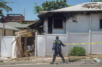 Honolulu firefighters extinguish house fire, revive dog