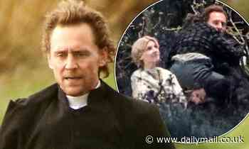 Tom Hiddleston and Clémence Poésy shoot scenes in Victorian attire on the set of The Essex Serpent - Daily Mail