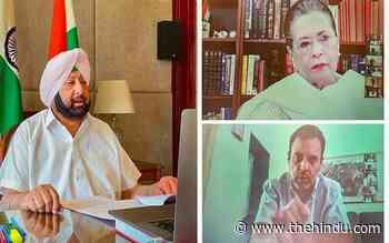 Coronavirus   Sonia holds virtual meet with Congress CMs; blames Modi govt. of 'mismanagement' - The Hindu