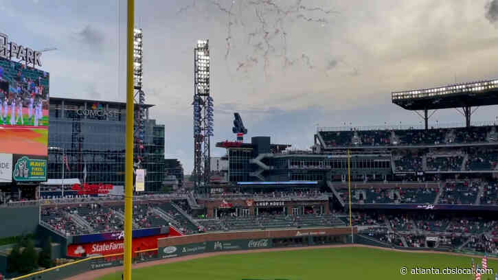 Atlanta Braves Fans Honor Hank Aaron, Celebrate Milestones At Home Opener Game