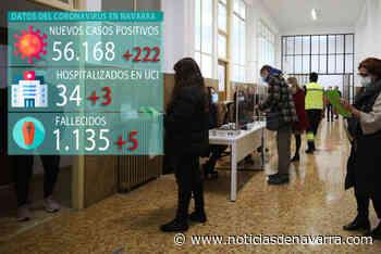 Coronavirus en Navarra: 5 muertes, dos de días previos, en un viernes con 18 nuevos ingresos y 222 positivos - Noticias de Navarra