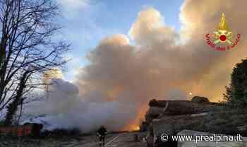 A fuoco azienda di Sesto Calende - La Prealpina