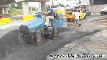 Equipes do tapa-buracos atuam pela cidade nesta sexta-feira - Click Guarulhos