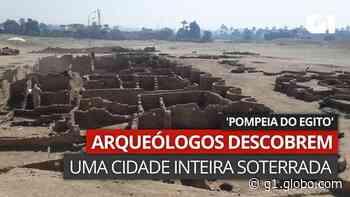 VÍDEO: Imagens mostram sítio apelidado por arqueólogos como 'Pompeia do Egito' - G1