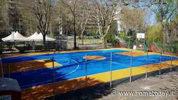 Sacco Pastore, inaugurato il nuovo campo da basket di via Val Chisone