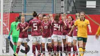 Testspiel in Wiesbaden: DFB-Frauen trotzen Corona: Sieg über Australien