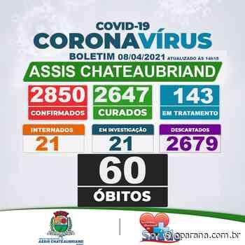 Assis Chateaubriand confirma dois óbitos e chega a 60 mortes por covid-19 - O Paraná