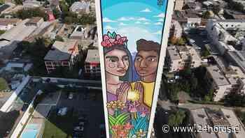 El mural gigante que consolida el arte urbano del barrio Yungay - 24Horas.cl