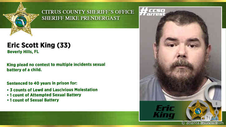 Florida Man Sentenced To 40 Years For Sexual Battery Of A Child