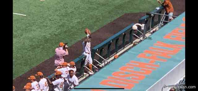 A high powered offense leads the way again for Texas baseball in a series clinching win over Kansas State