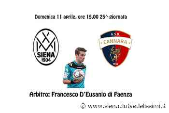 Siena-Cannara, arbitrerà Francesco D'Eusanio - Siena Club Fedelissimi
