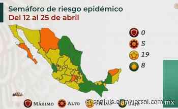 San Luis Potosí seguirá en semáforo amarillo del 12 al 25 de abril - El Universal