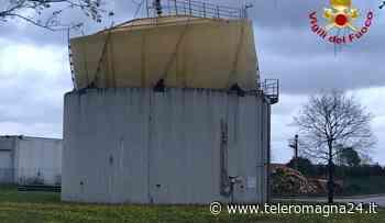 SAVIGNANO SUL RUBICONE: Vigili del Fuoco al lavoro per la messa in sicurezza di una campana gasometrica | FOTO - Teleromagna24