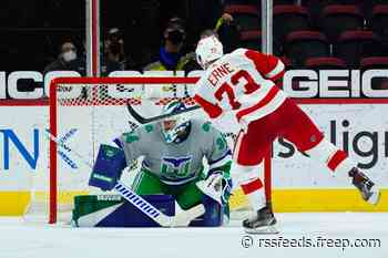 Detroit Red Wings beat Carolina Hurricanes, 5-4 (SO), with double dose of Adam Erne
