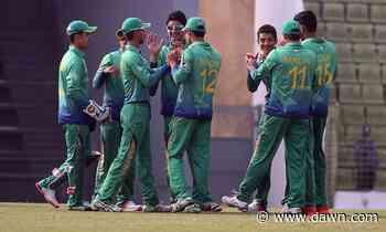 Pakistan U-19 tour to BD called off - Newspaper - DAWN.COM - DAWN.com