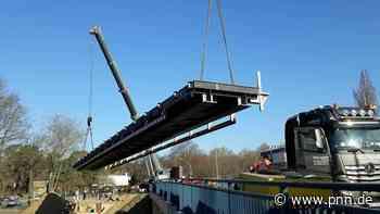 Rammrathbrücke schon im Sommer befahrbar? - Potsdamer Neueste Nachrichten