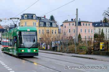 Straßenbahnschiene in Radebeul gebrochen - Sächsische Zeitung