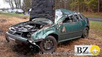Auto überschlägt sich im Kreis Gifhorn – ein Verletzter