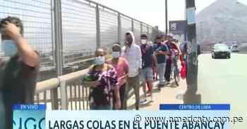 Centro de Lima: Largas colas para las votaciones en el puente Abancay - América Televisión