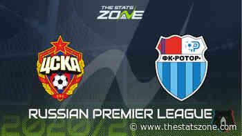 2020-21 Russian Premier League – CSKA Moscow vs Rotor Volgograd Preview & Prediction - The Stats Zone
