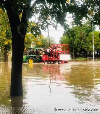 Imágenes del diluvio en Marcos Juárez: 60 evacuados (VIDEO) - Carlos Paz Vivo!